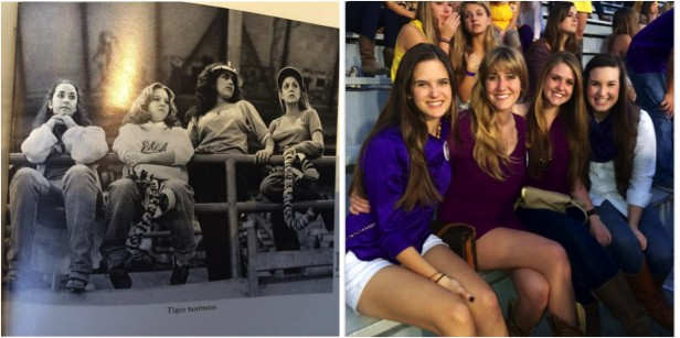 gameday fashion then and now