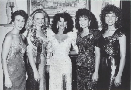 Figure 7: The 1987 Miss LSU Pageant Court