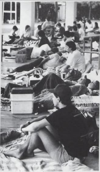 students during a tailgate 1989